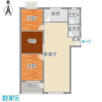 联运家园11.37㎡S户型3室2厅1卫1厨