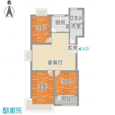 联运家园115.60㎡L户型3室2厅1卫1厨