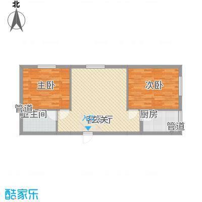 风尚国际公寓户型2室2厅1卫1厨