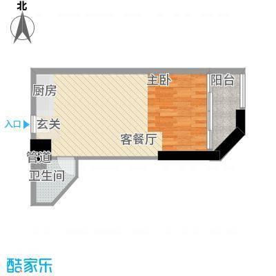 禹洲世贸国际4.31㎡二期B栋10-27层05户型1室2厅1卫1厨