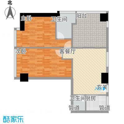 禹洲世贸国际1.24㎡二期B栋10-27层01户型2室2厅2卫1厨