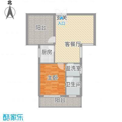 光谷领秀自由城二期83.34㎡2、3、4号楼B户型2室2厅1卫