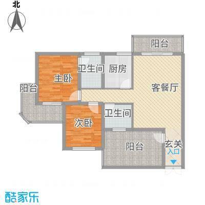 光谷领秀自由城二期14.30㎡5号楼C户型3室2厅2卫