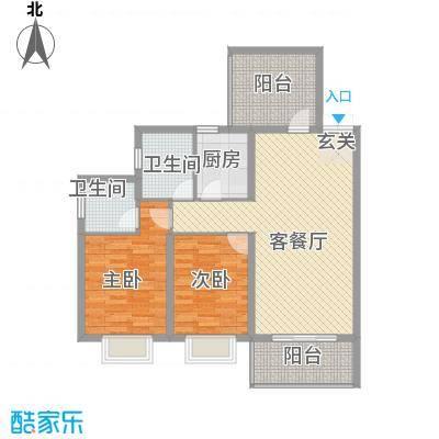 光谷领秀自由城二期15.80㎡5号楼F户型3室2厅2卫