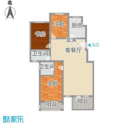 润和山居152.00㎡P5户型3室2厅2卫1厨