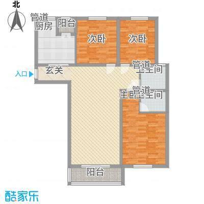 财富湾4#5#楼中间户C3户型