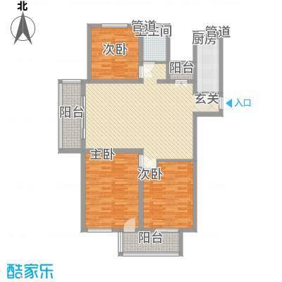 财富湾4#5#楼边户C1户型