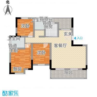 东渡海韵艺墅香颂湾128.00㎡户型4室2厅2卫1厨