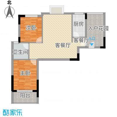 曦华佳苑4.12㎡1号楼A户型3室2厅1卫1厨