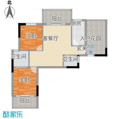 曦华佳苑3号楼D户型3室2厅2卫1厨