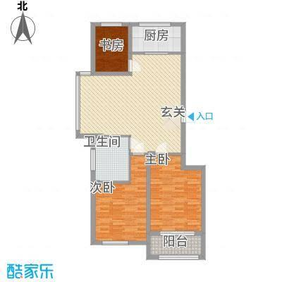 栋盛苑115.63㎡5#C户型3室2厅1卫1厨