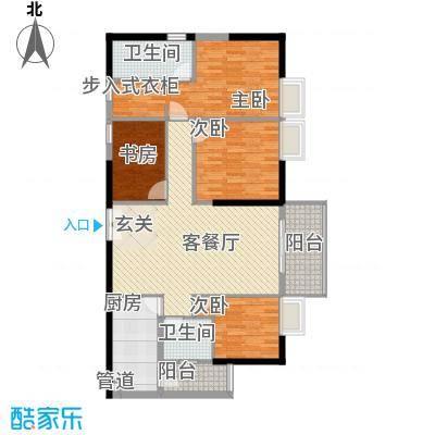 鑫月汇峰14.10㎡户型4室2厅