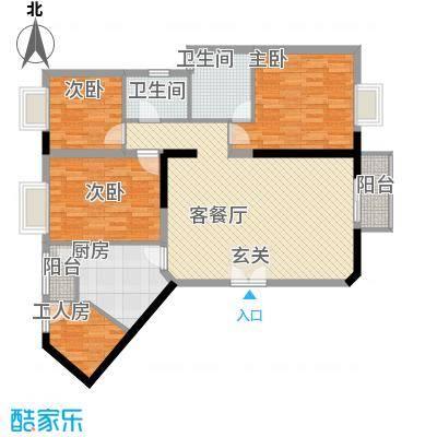 鑫月汇峰12.80㎡户型4室2厅