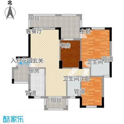 碧月湾花园112.00㎡住宅户型3室