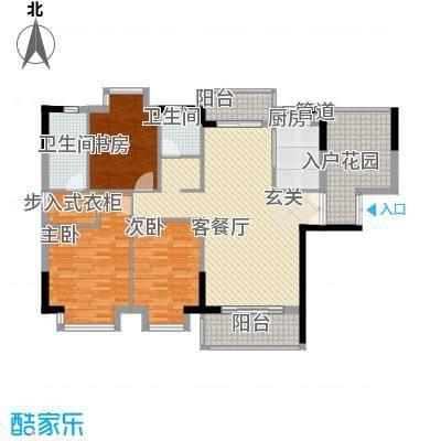蓝波水岸12.42㎡A户型3室2厅2卫1厨