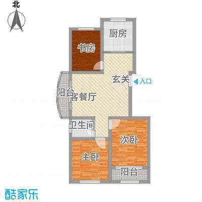 东城新华风景113.00㎡15#高层A户型3室2厅1卫1厨