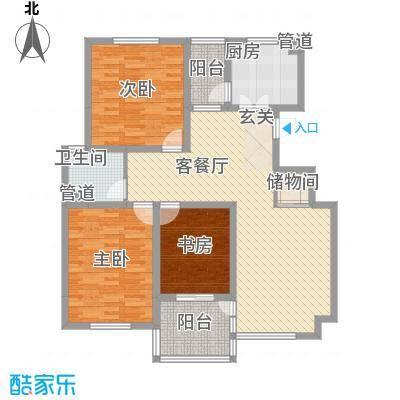 汇景苑B2型户型3室1厅1卫1厨