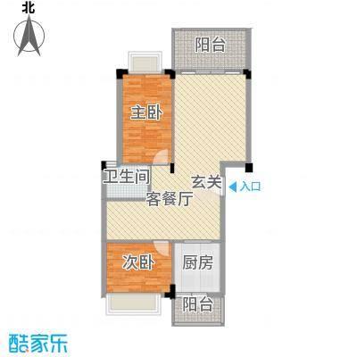 盈彩美地132.00㎡A型复式一层户型4室2厅2卫1厨