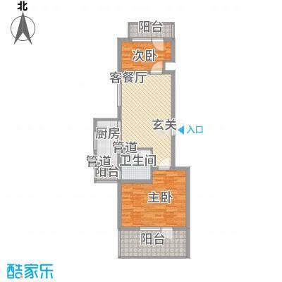 美多商务花园11.00㎡1-10040Z139140-L户型2室2厅1卫1厨