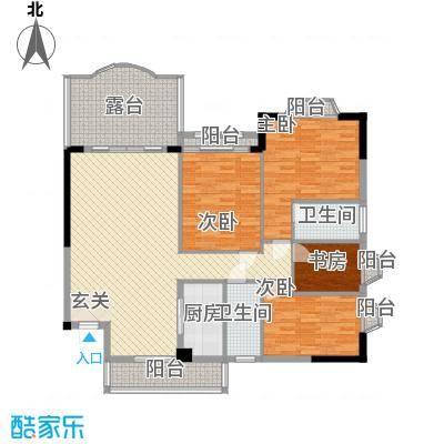 汇景中央135.37㎡A1A2栋05单元户型4室2厅2卫