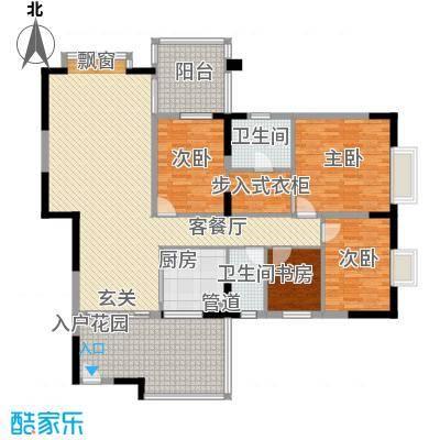 金田苑175.00㎡户型4室