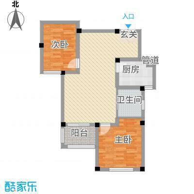 雍景苑8.00㎡小高层H户型2室2厅1卫1厨