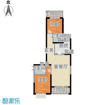 龙福新苑户型2室