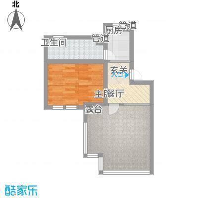 东方家园56.00㎡户型1室1厅1卫1厨