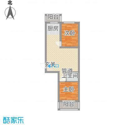 民生家园6.30㎡台北阳光6户型2室1厅1卫