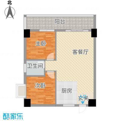 弘林大厦87.20㎡B户型2室2厅1卫