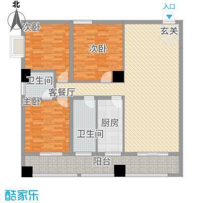 弘林大厦15.61㎡F户型3室2厅2卫