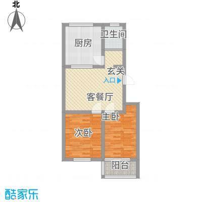 东方家园78.00㎡潍坊户型2室