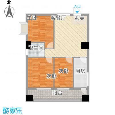 弘林大厦13.36㎡C户型3室2厅1卫