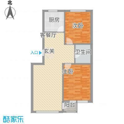 金润花园8.34㎡户型2室