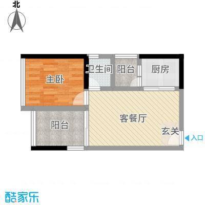 锦源国际53.00㎡户型1室