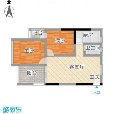 锦源国际7.00㎡户型2室