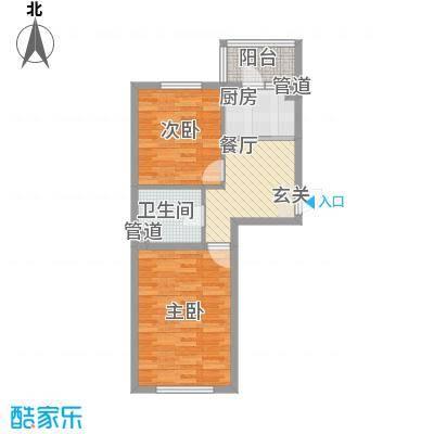 华泰世纪新城61.81㎡二期B1户型2室1厅1卫
