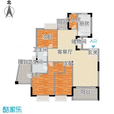 丽江花园户型3室