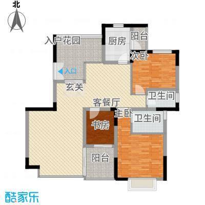 丽江花园158.00㎡户型3室