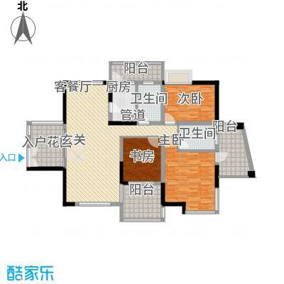 丽江花园户型2室