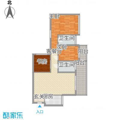 马山寨海景豪庭126.00㎡M户型3室2厅2卫1厨