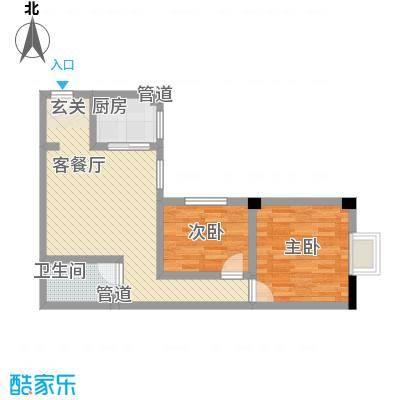 大唐龙庭(大唐智能花园三期)85.70㎡大唐智能花园三期户型2室1厅1卫1厨