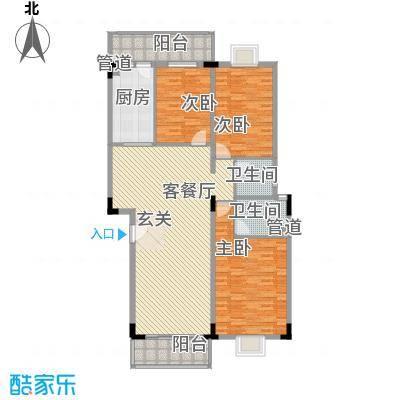 佳怡花园142.37㎡A1-A5栋01、02户型3室2厅2卫