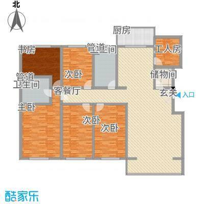 大唐龙庭(大唐智能花园三期)221.27㎡大唐智能花园一期户型5室2厅2卫
