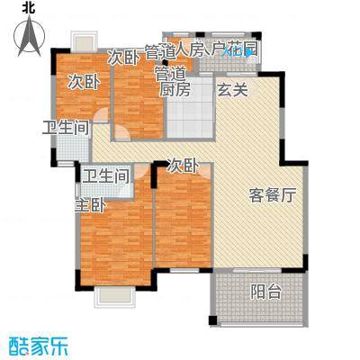 东江学府二期138.00㎡户型3室