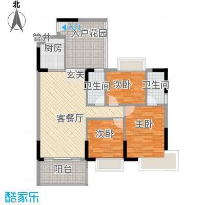 世纪新城128.00㎡户型3室