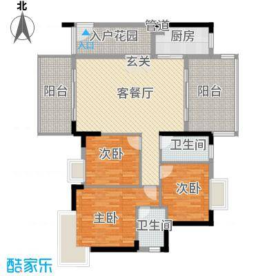 东江明珠花园172.00㎡户型4室