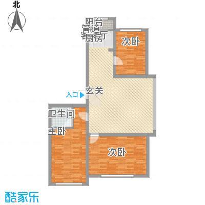 龙泰富苑18.14㎡户型3室2厅1卫