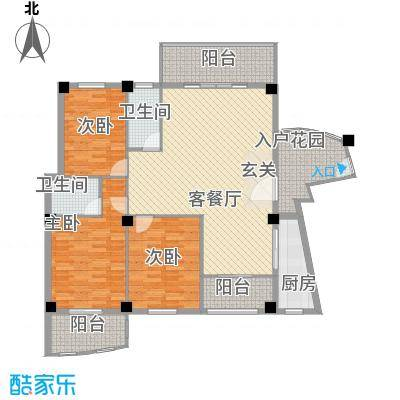 家家海景135.00㎡户型3室
