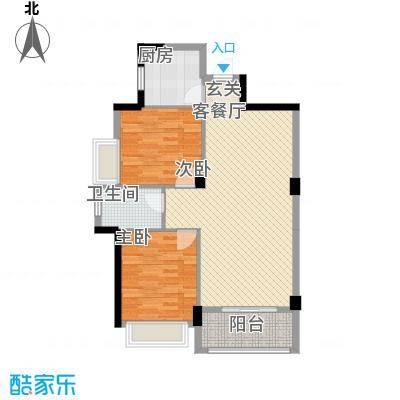 金宝创业家园8.00㎡户型2室